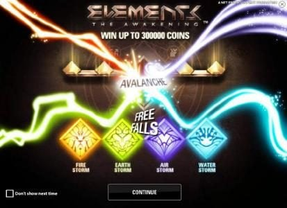 Casino Room featuring the Video Slots Elements The Awakening with a maximum payout of $7,500