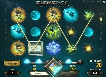 Powerspins featuring the Video Slots Elements The Awakening with a maximum payout of $7,500