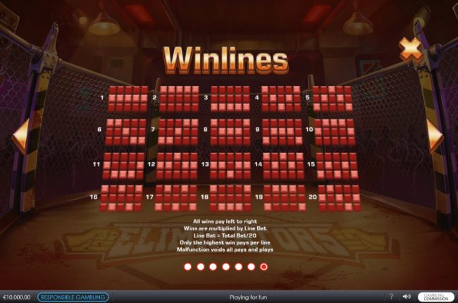 African Palace featuring the Video Slots Eliminators with a maximum payout of $62,500