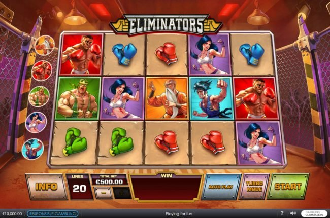 Casino Las Vegas featuring the Video Slots Eliminators with a maximum payout of $62,500