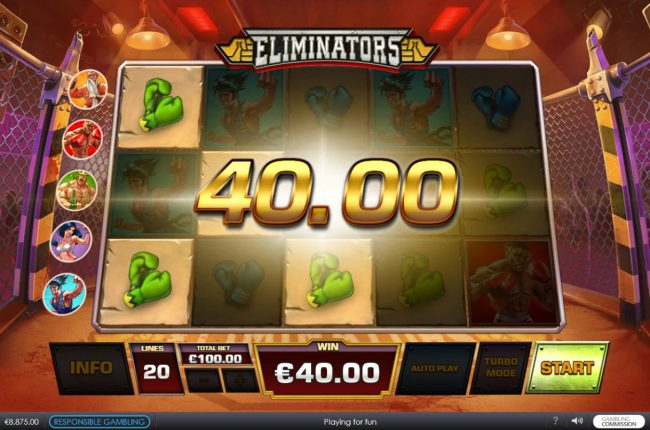 Unleashed featuring the Video Slots Eliminators with a maximum payout of $62,500