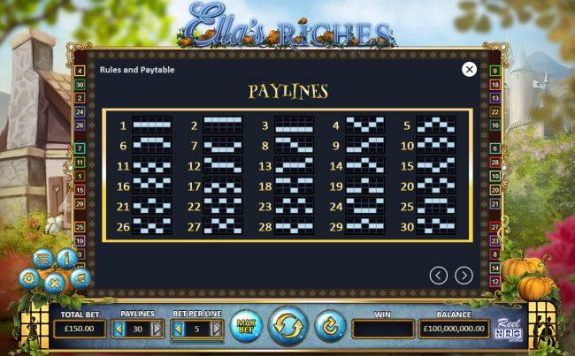 Ella's Riches :: Paylines 1-30