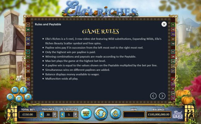 Ella's Riches :: General Game Rules