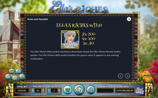 Ella's Riches :: Wild Symbol Rules