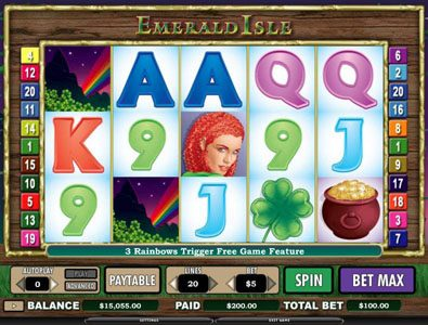 Cosmik featuring the Video Slots Emerald Isle with a maximum payout of $12,000