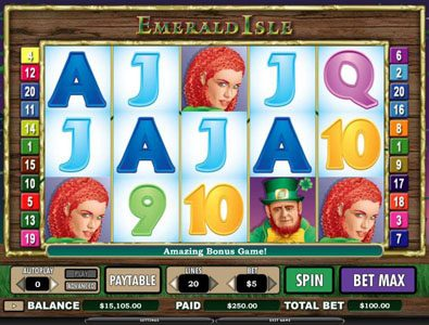 Noxwin featuring the Video Slots Emerald Isle with a maximum payout of $12,000