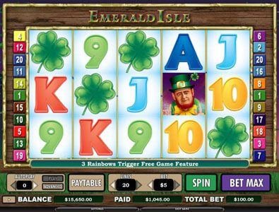 Winzino featuring the Video Slots Emerald Isle with a maximum payout of $12,000
