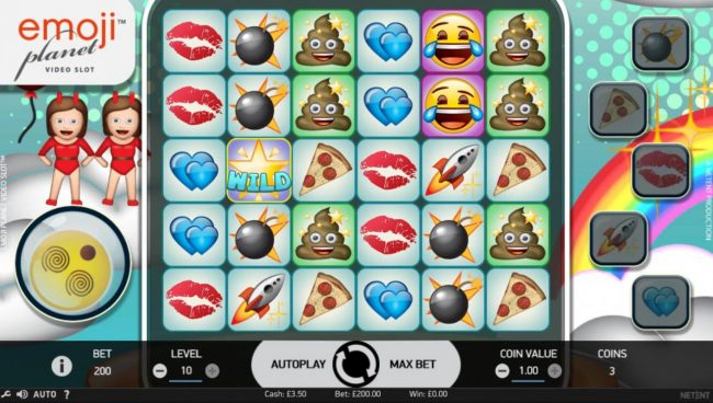 Play slots at Ocean Bets: Ocean Bets featuring the Video Slots Emoji Planet with a maximum payout of $100,000