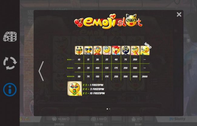 Diamond Club VIP featuring the Video Slots Emoji Slot with a maximum payout of $200,000