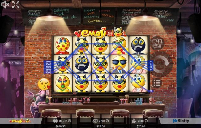 Lord of the Spins featuring the Video Slots Emoji Slot with a maximum payout of $200,000