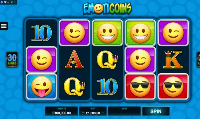 Stan James featuring the Video Slots Emoticoins with a maximum payout of $460,000