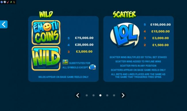 Luxury featuring the Video Slots Emoticoins with a maximum payout of $460,000