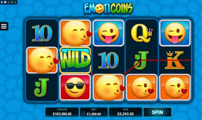 Leo Vegas featuring the Video Slots Emoticoins with a maximum payout of $460,000