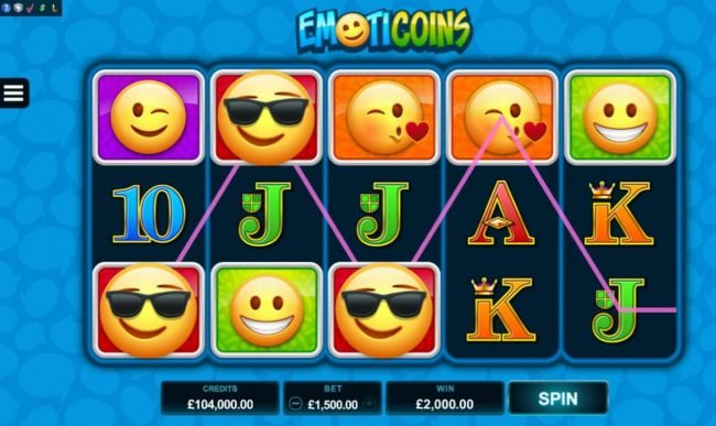 Piggs featuring the Video Slots Emoticoins with a maximum payout of $460,000