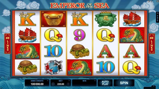Lucky Nugget featuring the Video Slots Emperor of the Sea with a maximum payout of $412,500