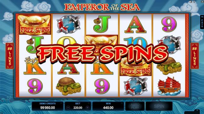 Virtual City featuring the Video Slots Emperor of the Sea with a maximum payout of $412,500