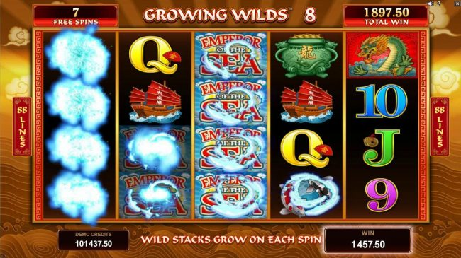 Play slots at King Neptunes: King Neptunes featuring the Video Slots Emperor of the Sea with a maximum payout of $412,500