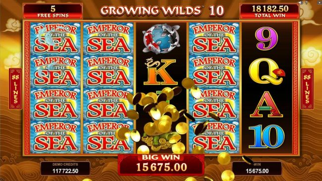 Jackpot City featuring the Video Slots Emperor of the Sea with a maximum payout of $412,500