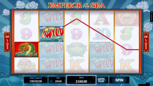 Euro Palace featuring the Video Slots Emperor of the Sea with a maximum payout of $412,500