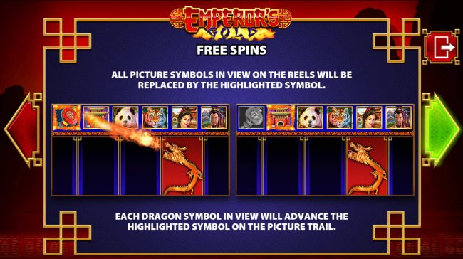 Grand Ivy featuring the Video Slots Emperor's Gold with a maximum payout of $250,000
