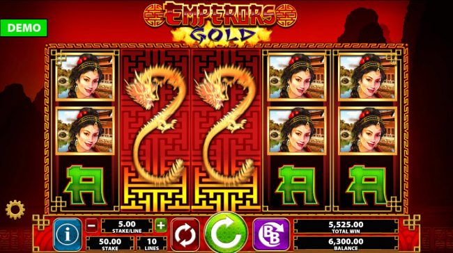 Yeti Casino featuring the Video Slots Emperor's Gold with a maximum payout of $250,000