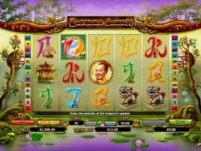 Play slots at Betway: Betway featuring the Video Slots Emperor's Garden with a maximum payout of $10,000