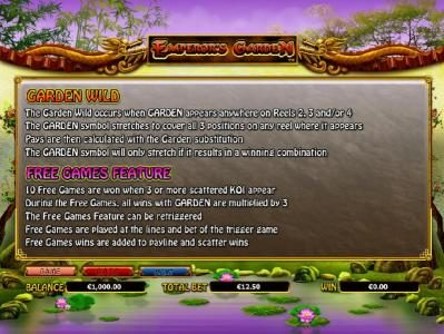 Cosmik featuring the Video Slots Emperor's Garden with a maximum payout of $10,000
