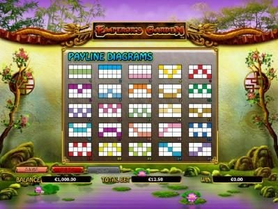 Crystal featuring the Video Slots Emperor's Garden with a maximum payout of $10,000