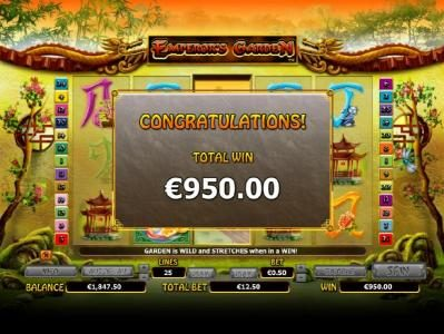 Play slots at Jackpot City: Jackpot City featuring the Video Slots Emperor's Garden with a maximum payout of $10,000