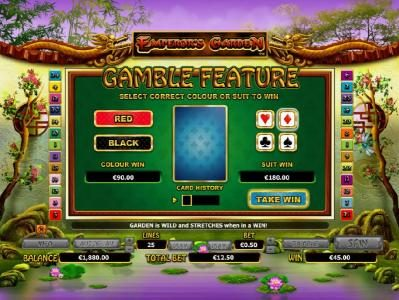 Ramses Gold featuring the Video Slots Emperor's Garden with a maximum payout of $10,000