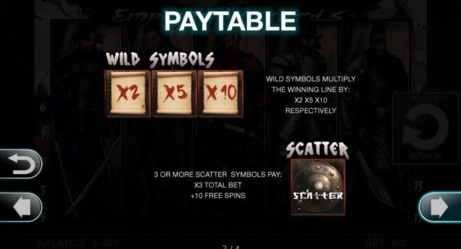 Empires Warlords :: Wild and Scatter Symbols Rules and Pays