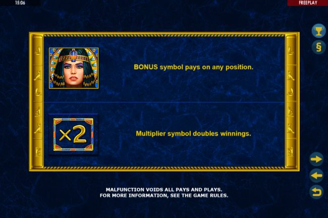 Boaboa featuring the Video Slots Enchanted Cleopatra with a maximum payout of $500,000