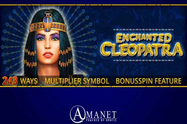 Betchan featuring the Video Slots Enchanted Cleopatra with a maximum payout of $500,000