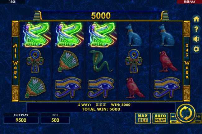 Malina featuring the Video Slots Enchanted Cleopatra with a maximum payout of $500,000