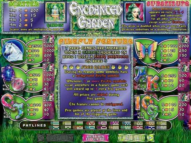 Sun Palace featuring the Video Slots Enchanted Garden with a maximum payout of $250,000