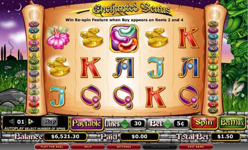 Play slots at TS: TS featuring the video-Slots Enchanted Beans with a maximum payout of 5,000x