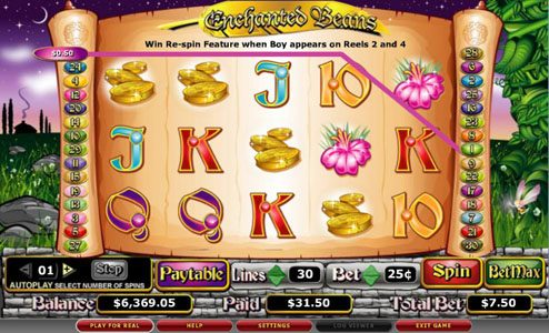 Genting featuring the video-Slots Enchanted Beans with a maximum payout of 5,000x