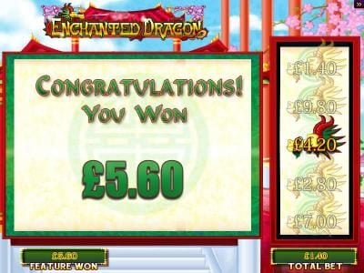 DruckGluck featuring the Video Slots Enchanted Dragon with a maximum payout of $25,000
