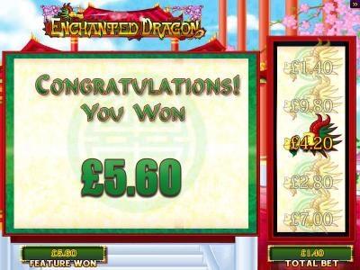 Play slots at Caesars: Caesars featuring the Video Slots Enchanted Dragon with a maximum payout of $250,000
