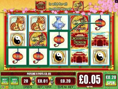 Slots Magic featuring the Video Slots Enchanted Dragon with a maximum payout of $25,000