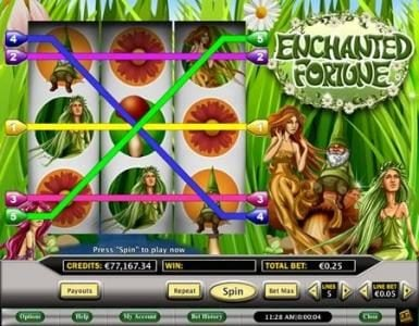Celtic featuring the Video Slots Enchanted Fortune with a maximum payout of $250