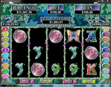 Planet7 Oz featuring the Video Slots Enchanted Garden with a maximum payout of $250,000