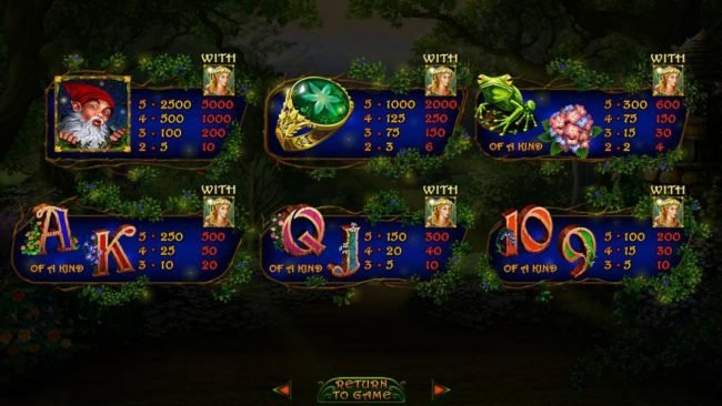 Bovegas featuring the Video Slots Enchanted Garden II with a maximum payout of $12,500