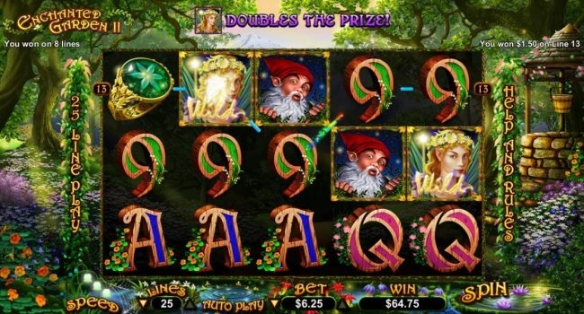 Casino Brango featuring the Video Slots Enchanted Garden II with a maximum payout of $12,500