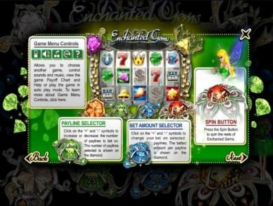 Slotland featuring the Video Slots Enchanted Gems with a maximum payout of $1,000