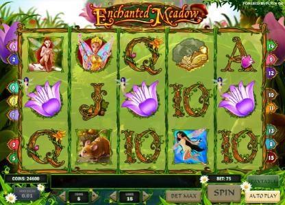 three flower symbols triggers bonus game