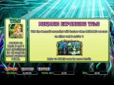 Enchanted Mermaid :: wild and mermaind expanding wild rules