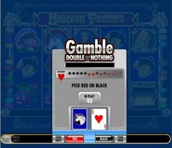gamble feature game board - double or nothing