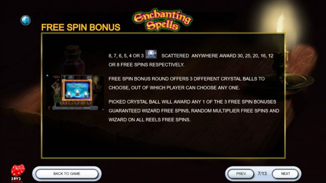Joy Casino featuring the Video Slots Enchanting Spells with a maximum payout of $180,000