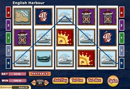 Intertops Classic featuring the Video Slots English Harbour with a maximum payout of $100,000